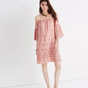 Madewell Eyelet Embroidered Off the Shoulder Dress